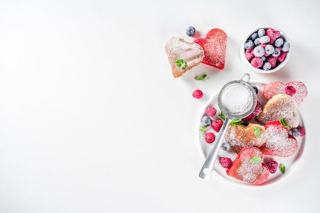 Frittelle a forma di cuore