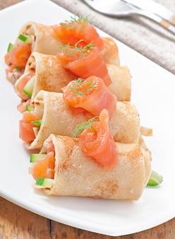 Frittelle di keg con pesce rosso