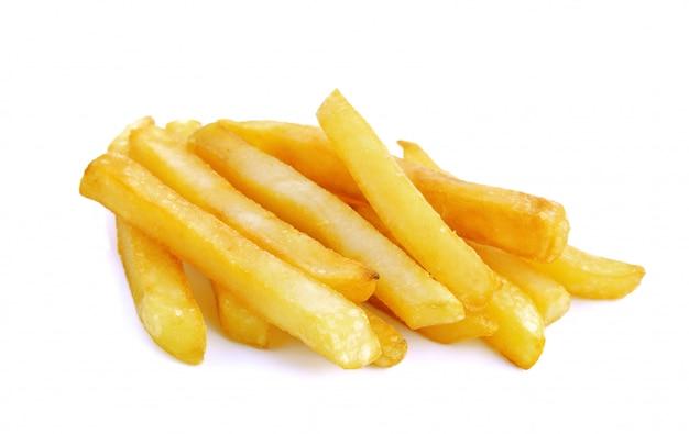 Frittura di patata su bianco isolata