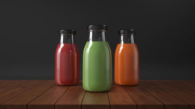 Frullati di succo di frutta in bottiglia