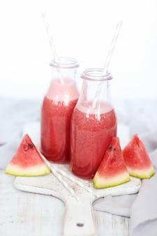 Frullato di anguria, bevanda rinfrescante estiva