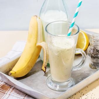 Frullato di banana al latte