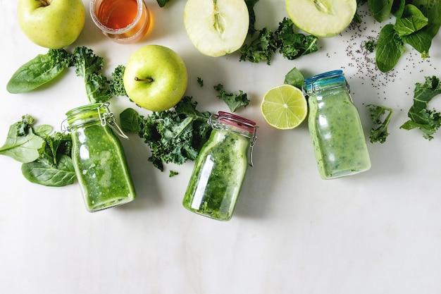 Frullato di mela verde con spinaci