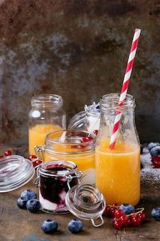 Frullato di melone e mirtilli