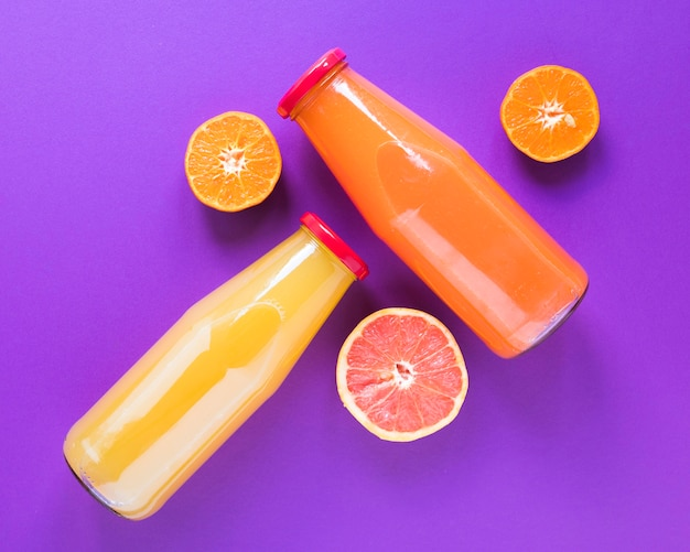 Frullato naturale di arancia e pompelmo