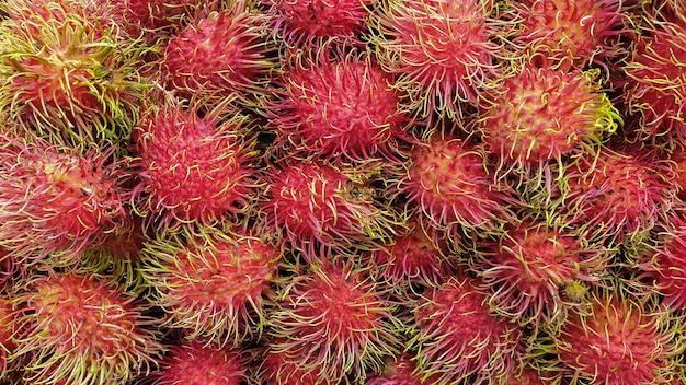 Frutta anitossidante dell'alta vitamina c del rambutan della tailandia sudorientale asiatica