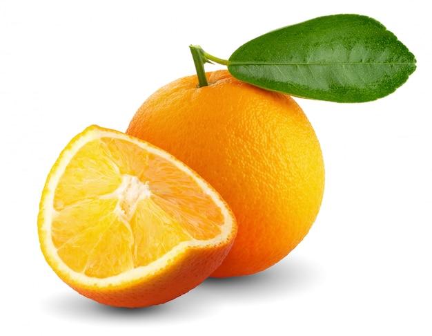 Frutta arancione isolata