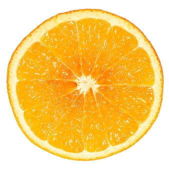 Frutta arancione matura haft su bianco