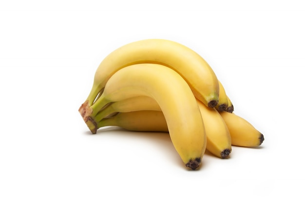 Frutta della banana su bianco