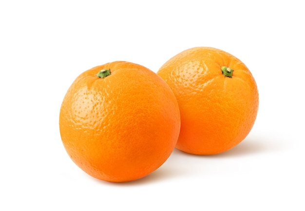 Frutta delle arance isolata su bianco