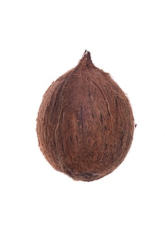 Frutta di cocco sopra bianco