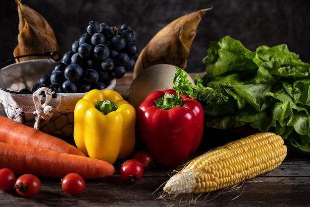 Frutta e verdura sana e gustosa