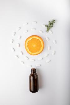 Frutta esotica con medicina