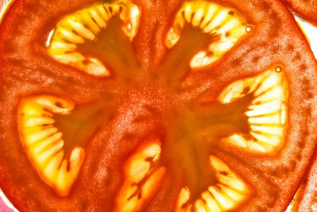 Frutta succosa del pomodoro fresco di close-up