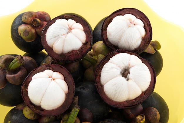 Frutta tailandese del mangostano del primo piano