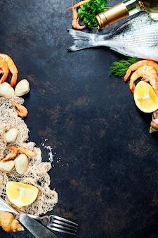 Frutti di mare freschi