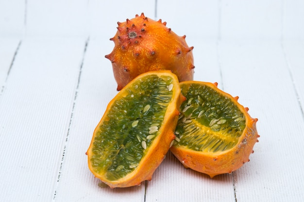 Frutto di melone cornuto
