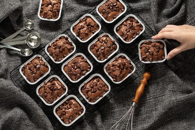 Fudge brownie dolce dolce causa di grassi ma deliziosi