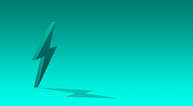 Fulmine 3d, icona di elettricità