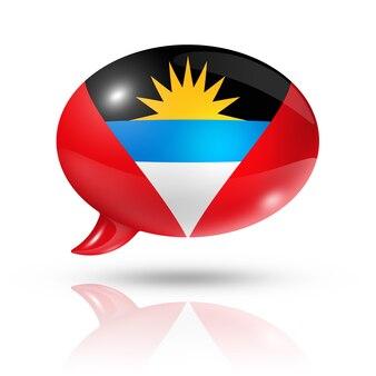 Fumetto della bandiera dell'antigua e barbuda