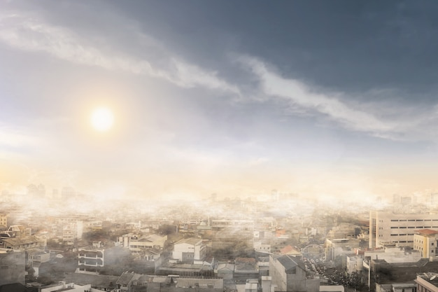 Fumo e inquinamento atmosferico in un giorno