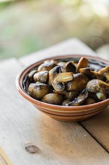 Funghi fritti a fette