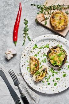 Funghi ripieni al forno ingredienti per cucinare