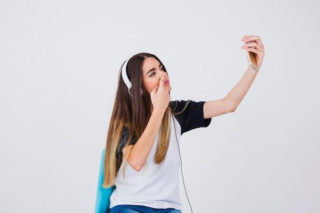 Funny selfie del naso