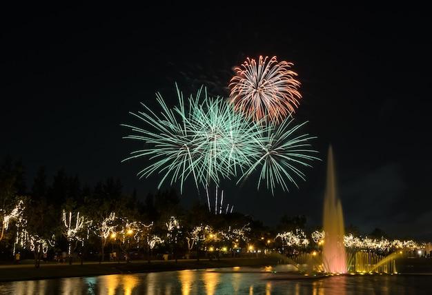 Fuochi d'artificio nel parco cittadino