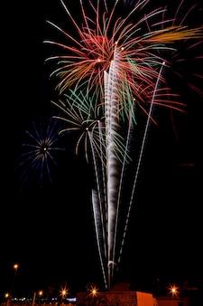 Fuochi d'artificio nella notte