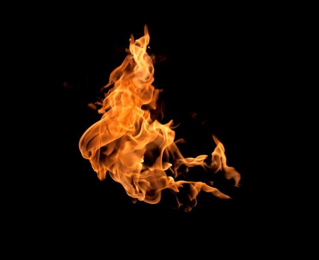 Fuoco fiamme sullo sfondo
