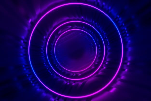 Futuristico incandescente cerchi sfondo