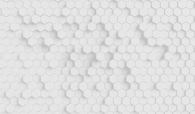 Futuristico motivo a nido d'ape a superficie esagonale