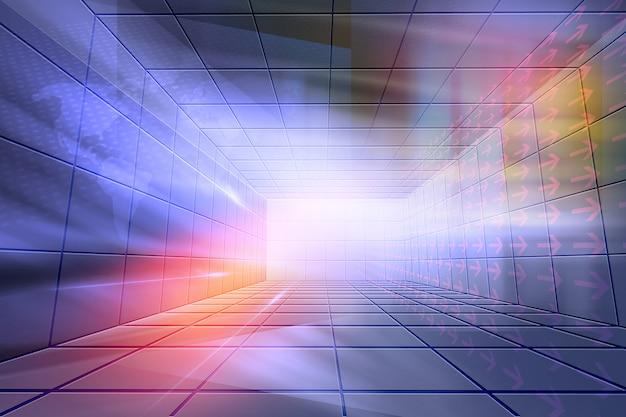 Futuristico sfondo di studio chiuso ad alta tecnologia