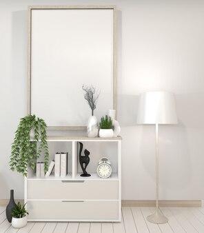 Gabinetto dello scaffale della tv nella stanza vuota moderna. rendering 3d