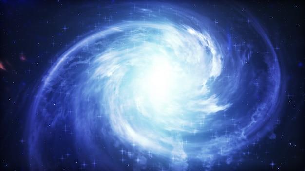 Galassia a spirale, illustrazione 3d dell'oggetto dello spazio profondo.