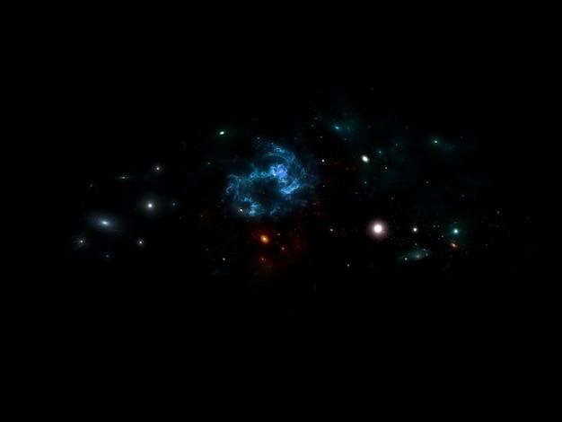 Galassia e stelle foto premium, buco nero sfondo spaziale con stelle brillanti, polvere di stelle e nebulosa. cosmo realistico. galassia colorata con la via lattea e il pianeta.