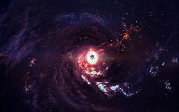 Galassia incredibilmente bella nello spazio profondo. buco nero.