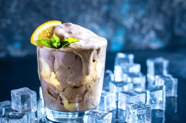 Galleggiante per gelato alla crema all'arancia