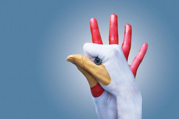 Gallo a mano