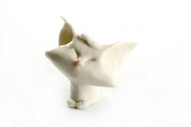 Gatto fatto a mano di plastilina