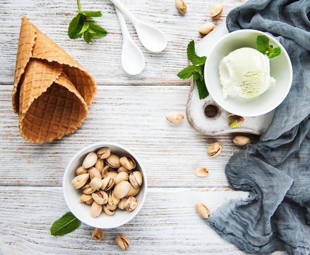 Gelato al pistacchio e menta