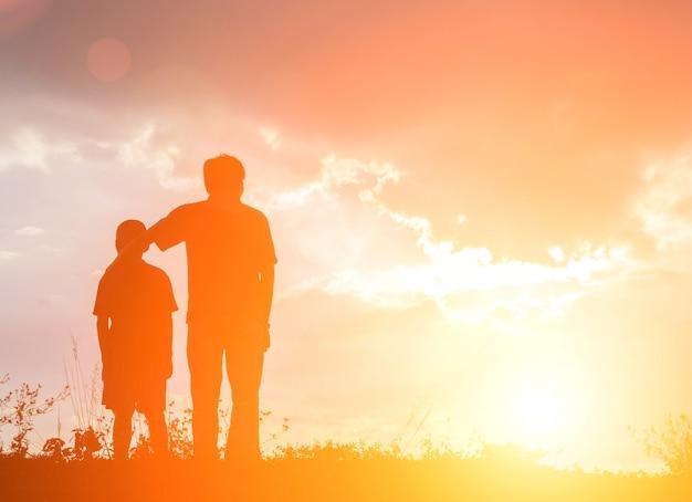 Generazione papà ragazzino padre tenere