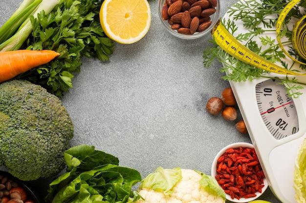 Generi alimentari e ridimensionamento con spazio di copia