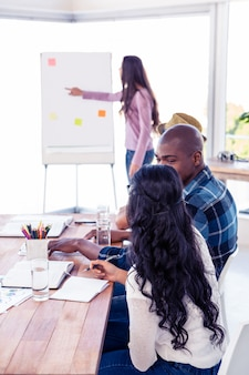 Gente di affari alla presentazione in ufficio creativo