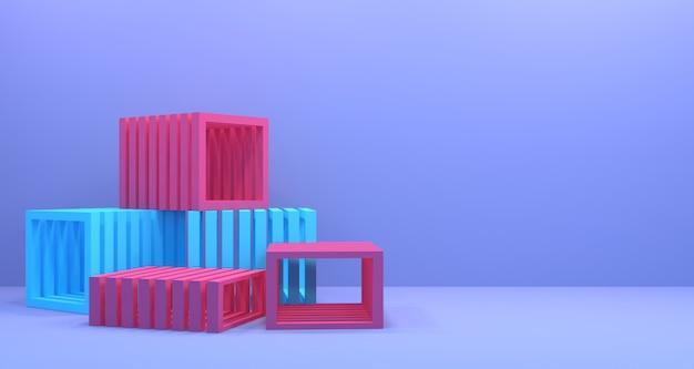 Geometria 3d profondità di fondo