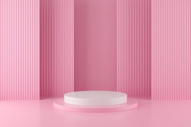 Geometria astratta forma di sfondo con podio minimalista
