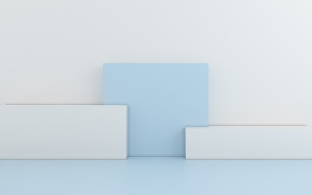 Geometrico astratto minimo. rendering 3d