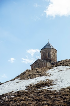 Gergeti trinity church in georgia