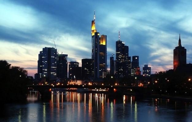 Germania architettura grattacieli skyline di francoforte